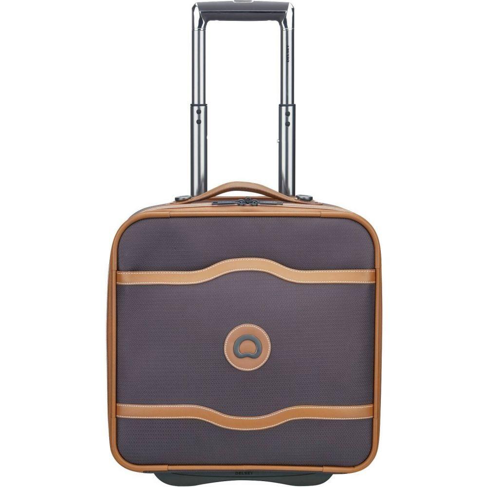 デルシー DELSEY レディース スーツケース・キャリーバッグ バッグ【Paris Chatelet Soft Air 2-Wheel Under-Seater Carry On Suitcase】Chocolate