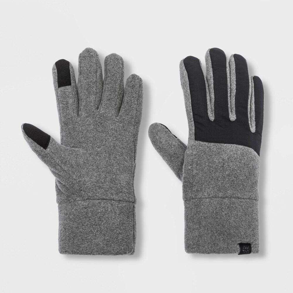 宅配便送料無料 オールインモーション メンズ ファッション小物 手袋 グローブ Gray Blac サイズ交換無料 Fleece in Motion Black All Gloves - 休み