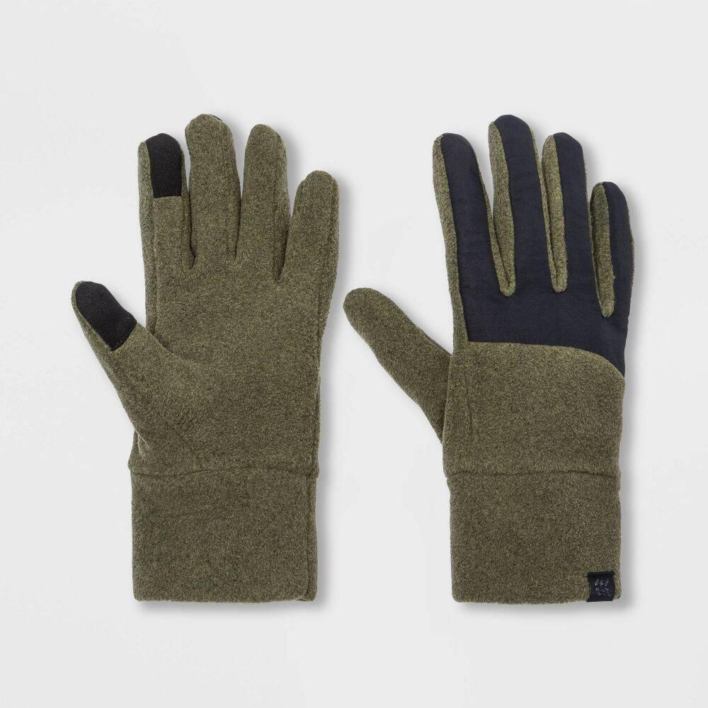 オールインモーション メンズ 4年保証 ファッション小物 手袋 グローブ Olive Heather 今ダケ送料無料 Black All Fleece - Motion サイズ交換無料 in Gloves