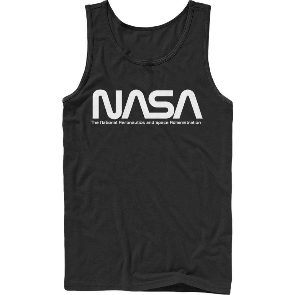 NASA メンズ トップス タンクトップ black 【サイズ交換無料】 NASA メンズ タンクトップ トップス【Text Simple Logo Tank Top】black