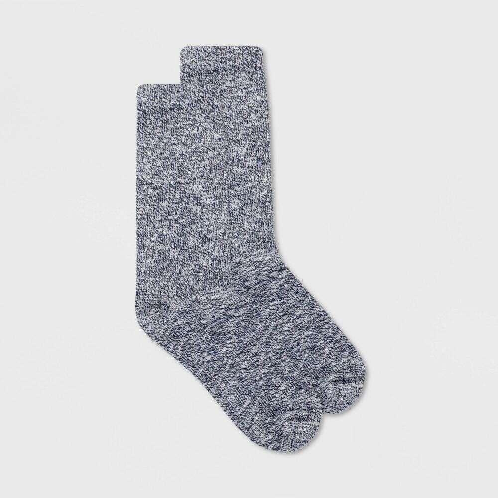 アラスカ レディース インナー 下着 ソックス Navy Alaska Knits Lightweight Wool 4-10 - 贈り物 Socks Marled Blend Crew Boot 新登場