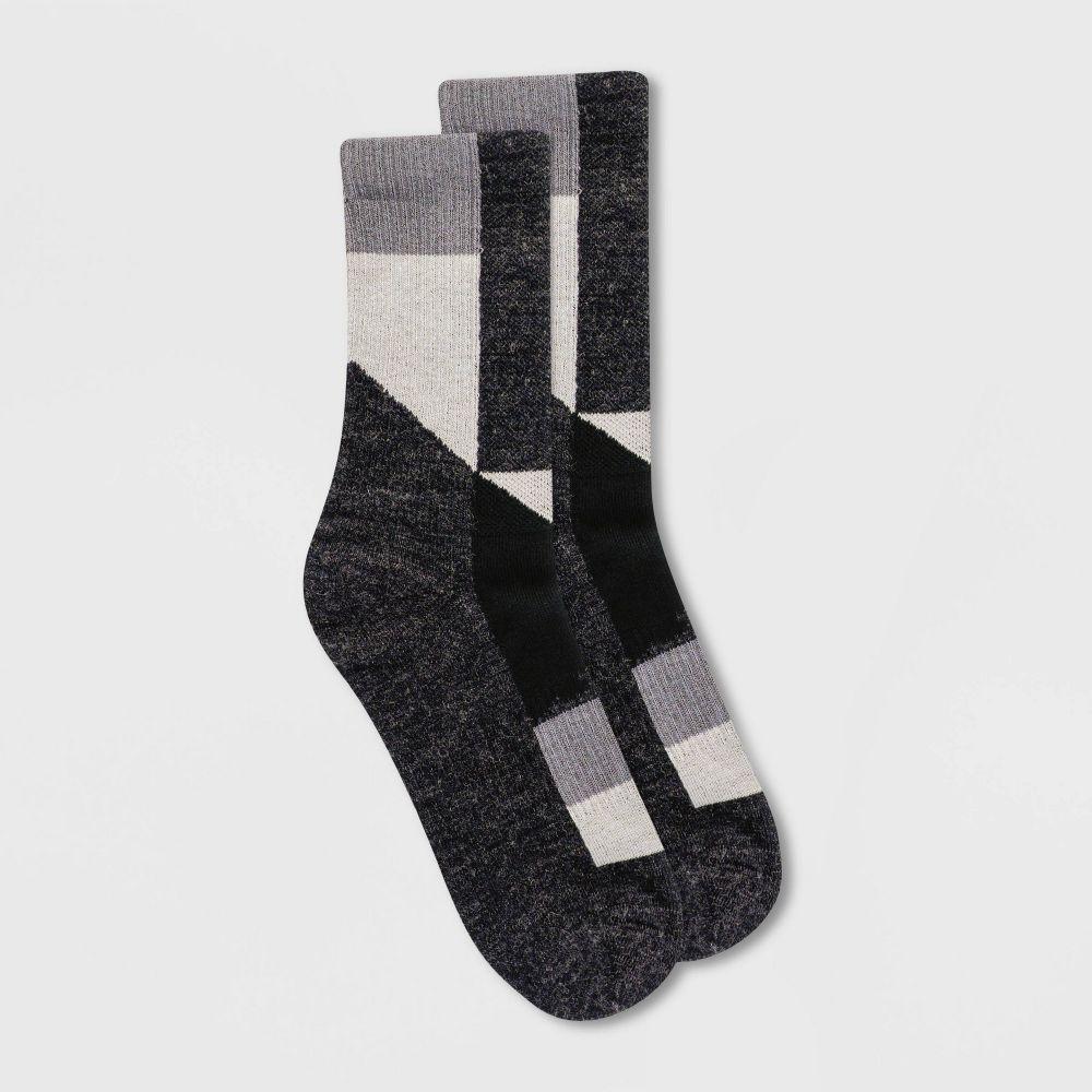 アラスカ レディース インナー 下着 ソックス 売買 Black Alaska Knits アウトレット Blend Socks Crew - Boot Patchwork 4-10 Wool