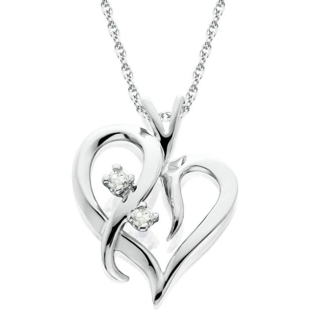 ポンペイ Pompeii3 レディース ネックレス ハート ジュエリー・アクセサリー【Heart Shape Genuine Diamond Pendant High Polished White Gold】