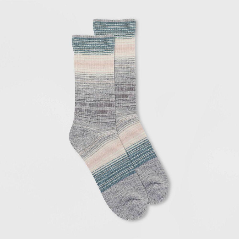 アラスカ レディース インナー 下着 ソックス Light 国内在庫 Gray Alaska 4-10 安全 Boot Crew - Wool Knits Socks Blend