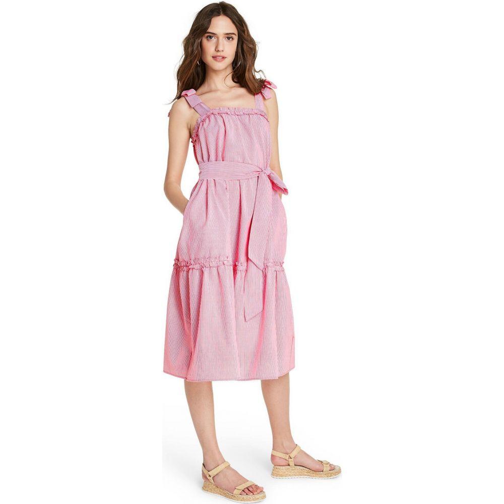 ターゲット Lisa Marie Fernandez for Target レディース ワンピース ワンピース・ドレス【Seer Sucker Tie-Strap Dress - (Regular & Plus) Red/White】