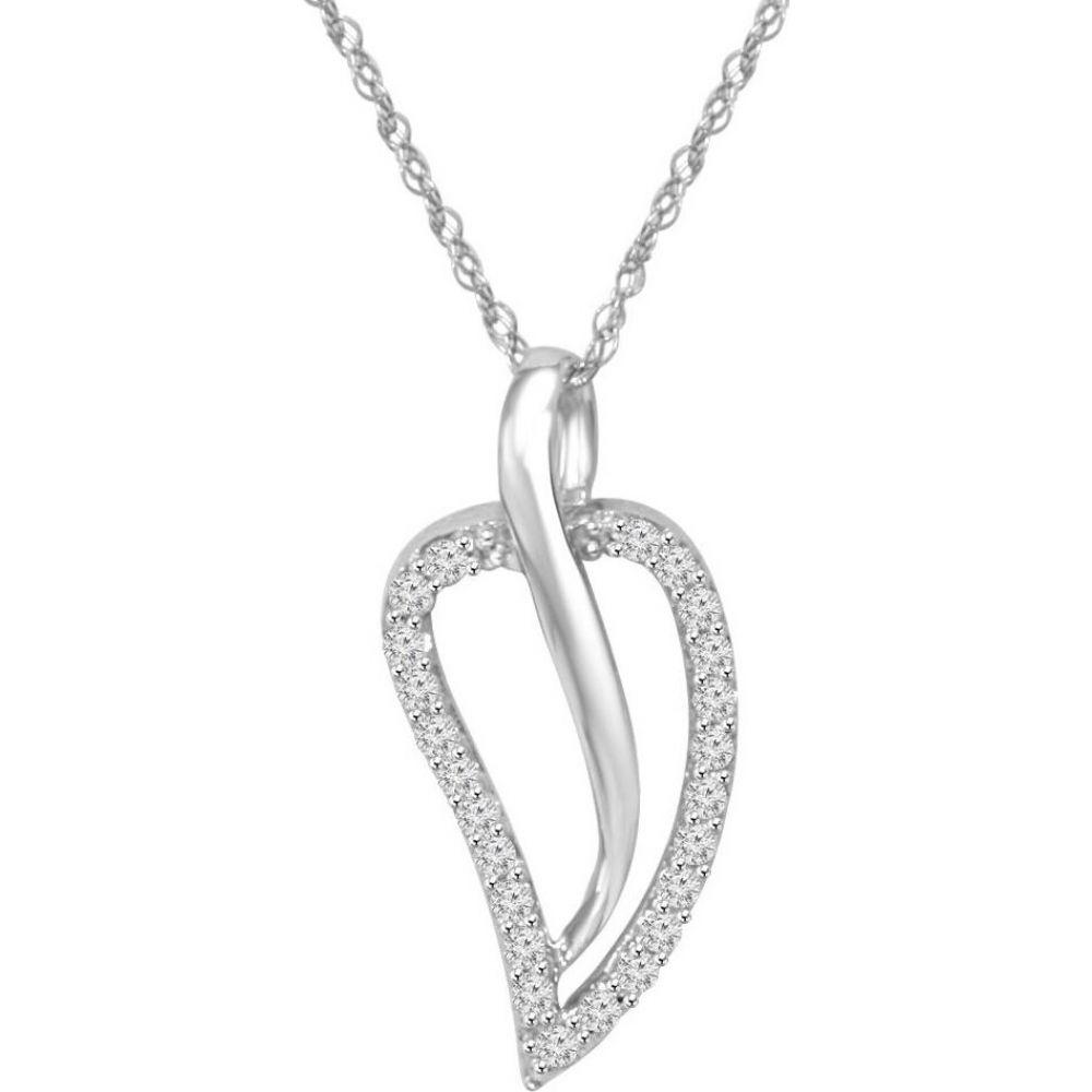 ポンペイ Pompeii3 レディース ネックレス ジュエリー・アクセサリー【White Gold 1/4ct Fancy Contour Genuine Diamond Pendant】