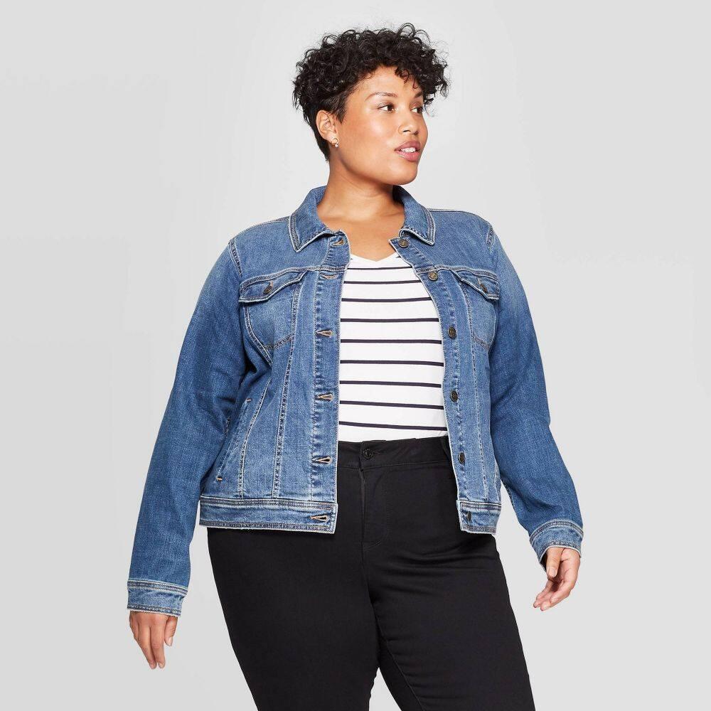 アヴァ&ヴィヴィ Ava & Viv レディース ジャケット 大きいサイズ アウター【Plus Size Jean Jacket - Medium Wash】