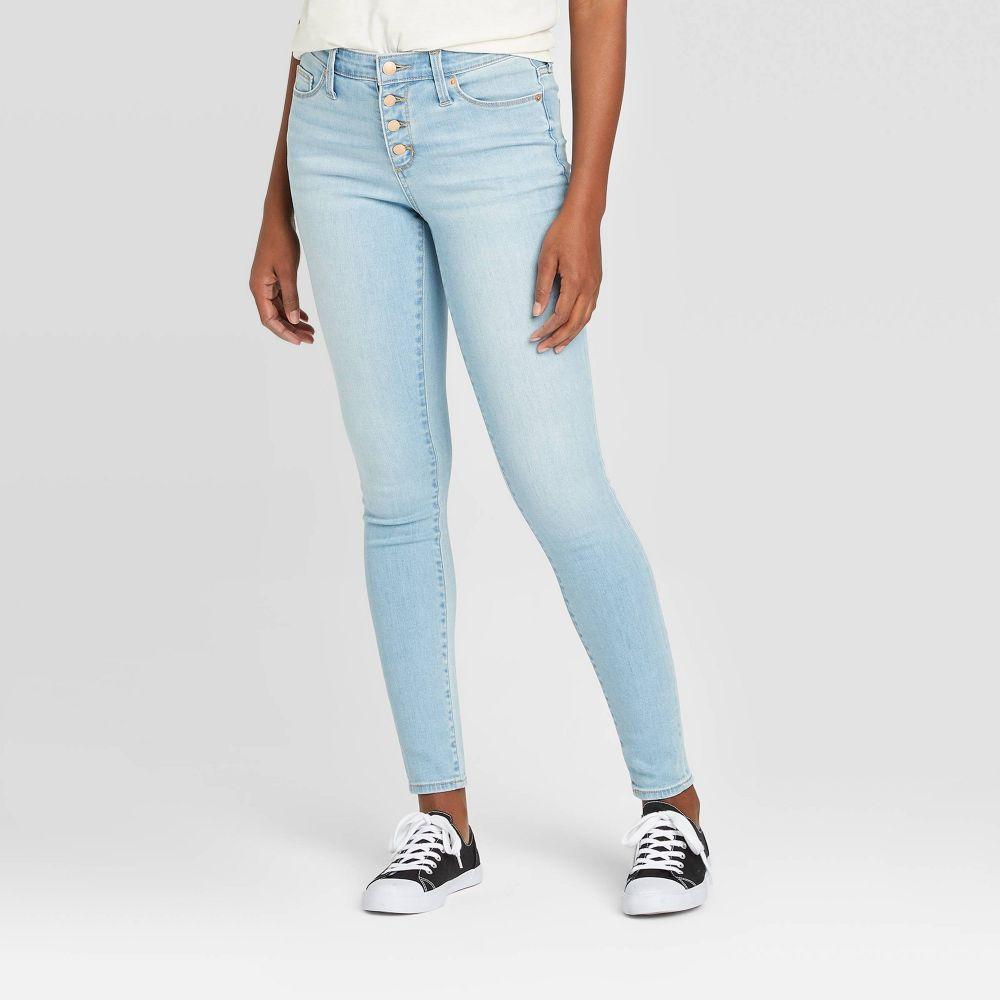 ユニバーサルスレッド Universal Thread レディース ジーンズ・デニム ボトムス・パンツ【High-Rise Button-Fly Skinny Jeans - Light Wash】
