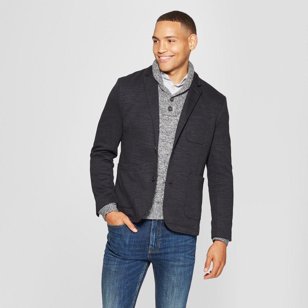 グッドフェロー Goodfellow & Co メンズ スーツ・ジャケット アウター【Standard Fit Knit Blazer -】Deep Charcoal
