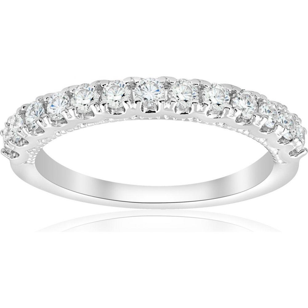 ポンペイ レディース ジュエリー アクセサリー 最安値挑戦 指輪 リング サイズ交換無料 Pompeii3 定番の人気シリーズPOINT(ポイント)入荷 1 2ct 14k White Ring Gold Diamond Milgrain Prong U Wedding