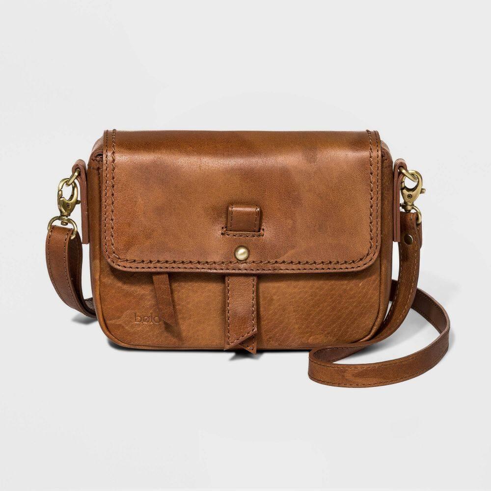 ボーロ Bolo レディース ショルダーバッグ バッグ【Convertible Crossbody Bag】Brown