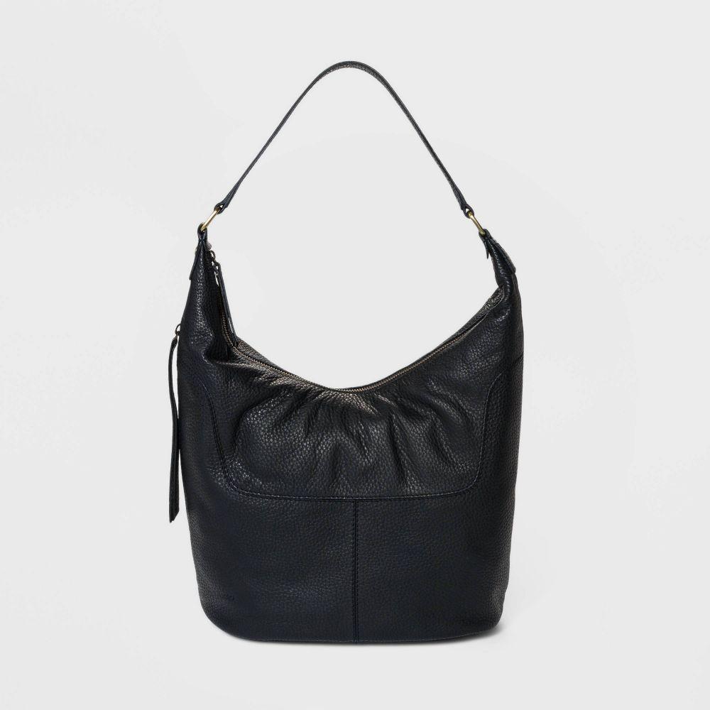 ボーロ Bolo レディース ショルダーバッグ バッグ【Soft Mello Pebble Leather Hobo Handbag】Black