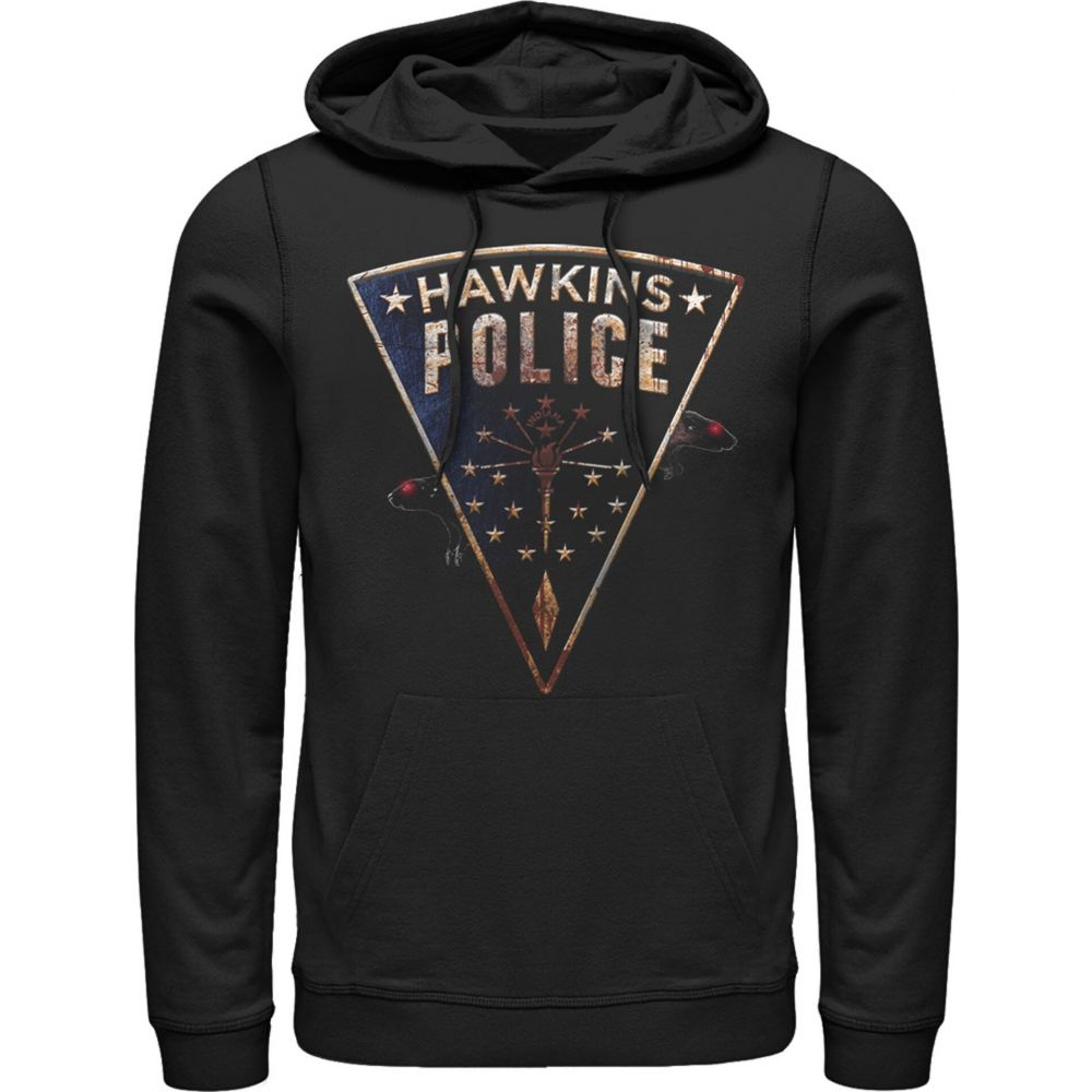 フィフス サン Fifth Sun メンズ パーカー トップス【Stranger Things Hawkins Police Rat Crest Hoodie】black