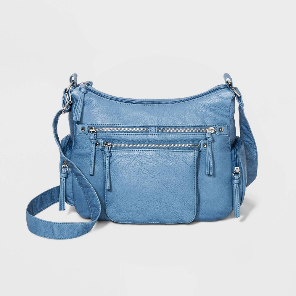 ブエノ Bueno of California レディース ショルダーバッグ バッグ【Bueno Zip Closure Crossbody Bag】Blue