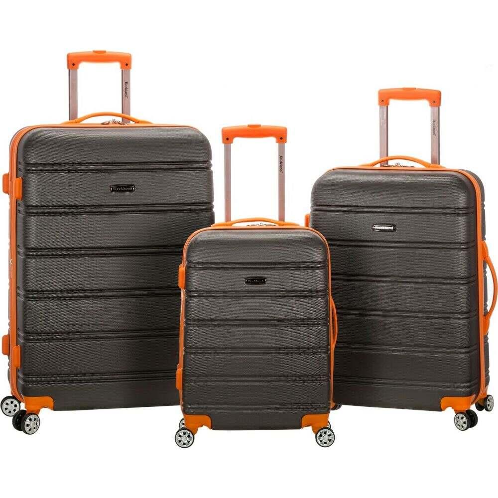 ロックランド Rockland メンズ スーツケース・キャリーバッグ バッグ【Melbourne 3pc ABS Spinner Luggage Set】Charcoal