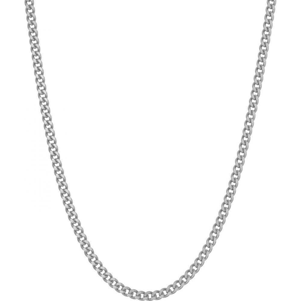 ティアラ Tiara レディース ネックレス ジュエリー・アクセサリー【Sterling Silver Curb Chain Necklace】White