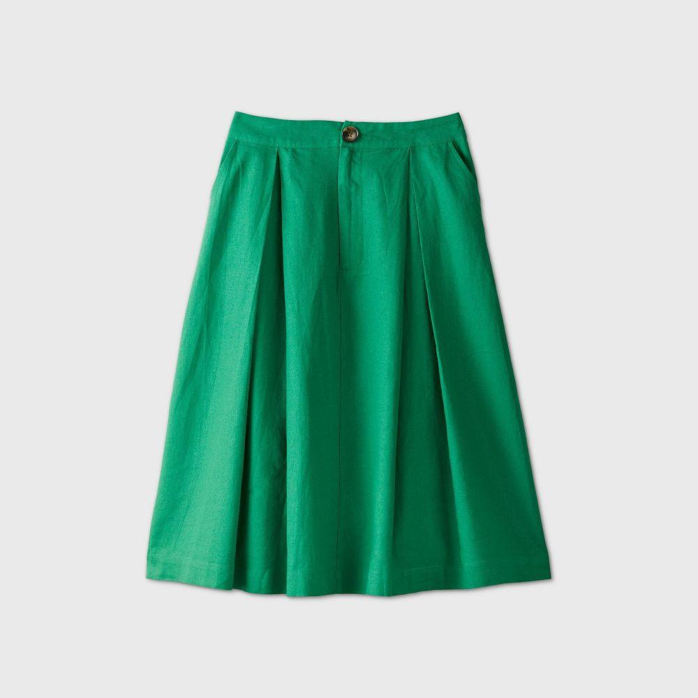 フー ワット ウェアー Who What Wear レディース ひざ丈スカート スカート【Birdcage A-Line Midi Skirt -】Green