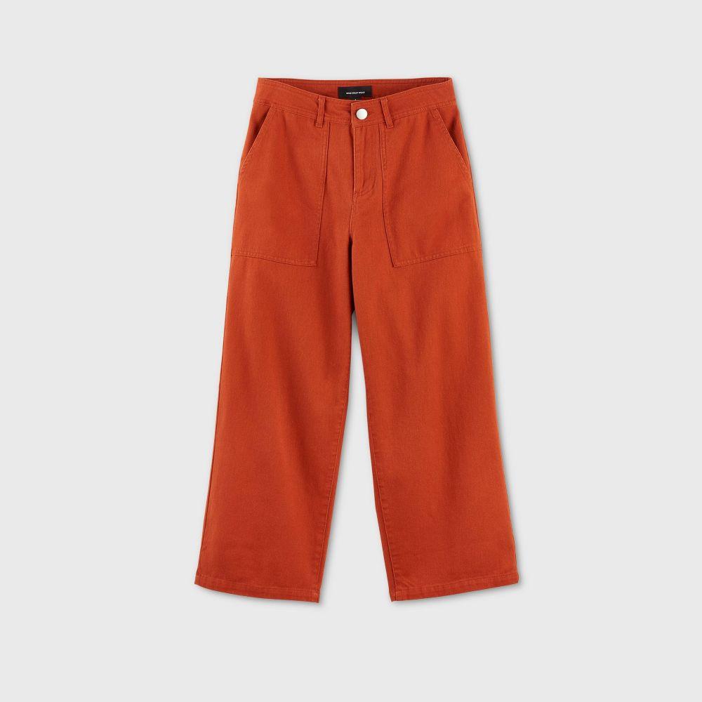 フー ワット ウェアー Who What Wear レディース クロップド アンクル ボトムス・パンツ【Polka Dot Mid-Rise Ankle Length Pants -】Brown