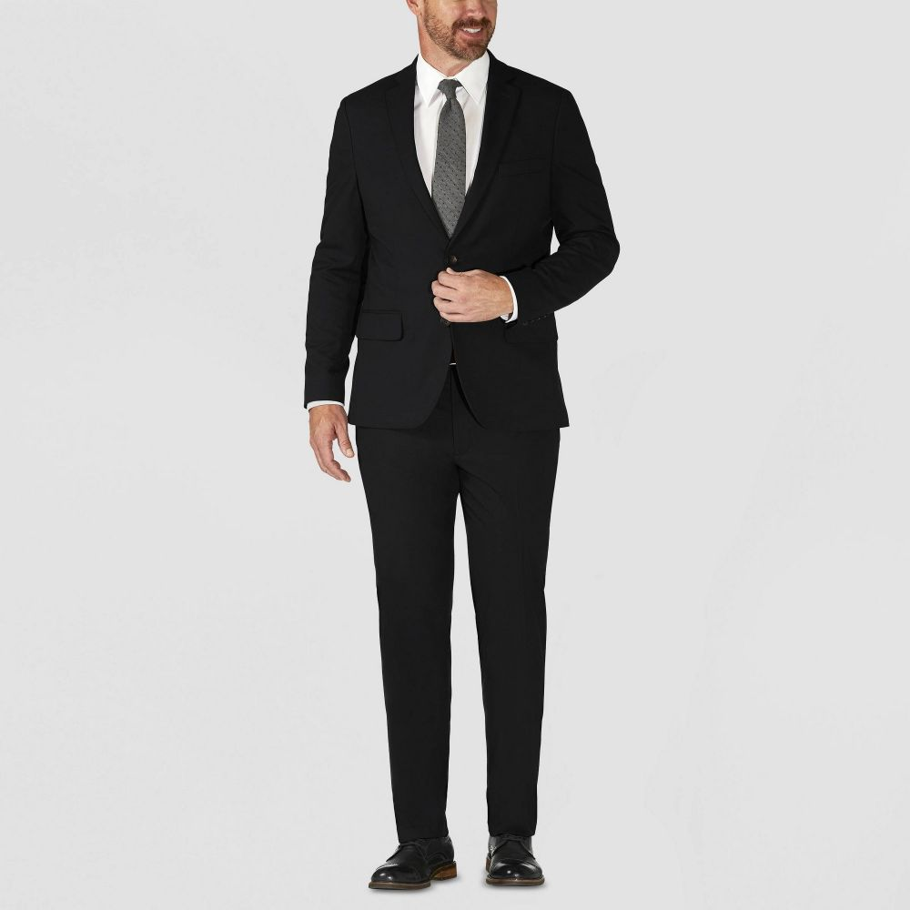 ハガーH26 Haggar H26 メンズ スーツ・ジャケット 大きいサイズ アウター【Big & Tall Tailored Fit Premium Stretch Suit Jacket】Black