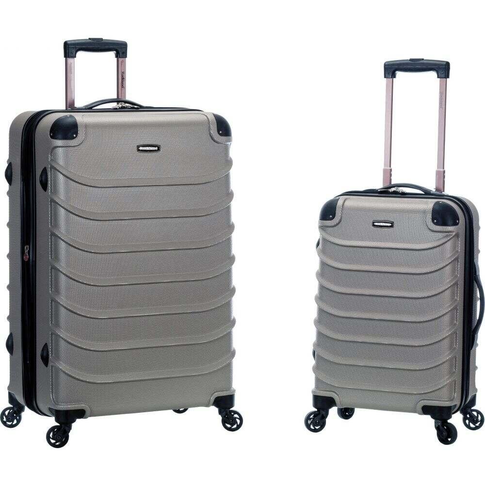 ロックランド Rockland メンズ スーツケース・キャリーバッグ バッグ【Pebble Beach 2pc Expandable ABS Spinner Luggage Set】Silver