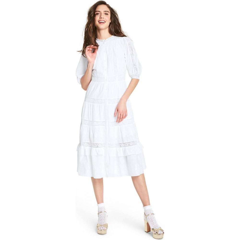 ターゲット LoveShackFancy for Target レディース ワンピース ワンピース・ドレス【Phoebe Button-Up Dress - (Regular & Plus) White】
