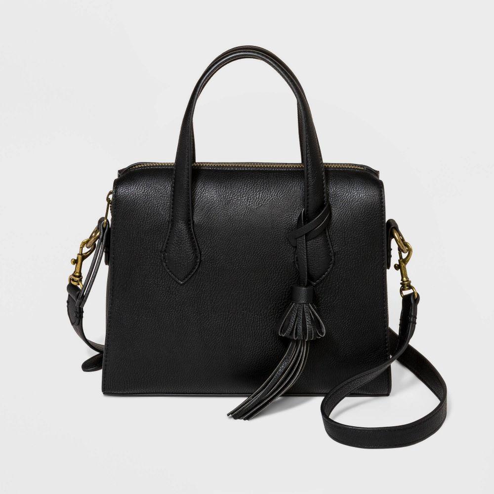 ユニバーサルスレッド Universal Thread レディース ショルダーバッグ バッグ【Zip Closure Crossbody Bag -】Black