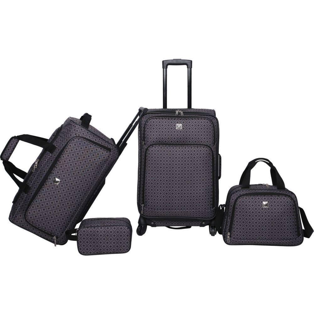 スカイライン Skyline メンズ スーツケース・キャリーバッグ バッグ【4pc Luggage Set】Grey Geo