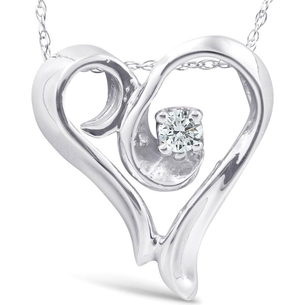 ポンペイ Pompeii3 レディース ネックレス ハート ジュエリー・アクセサリー【14k White Gold Fancy Heart Shape Solitaire Diamond Pendant Necklace】