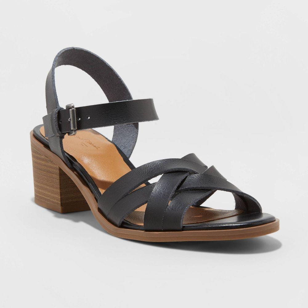 ユニバーサルスレッド Universal Thread レディース パンプス シューズ・靴【Corrie Faux Leather Stacked Block Heel Pumps -】Black