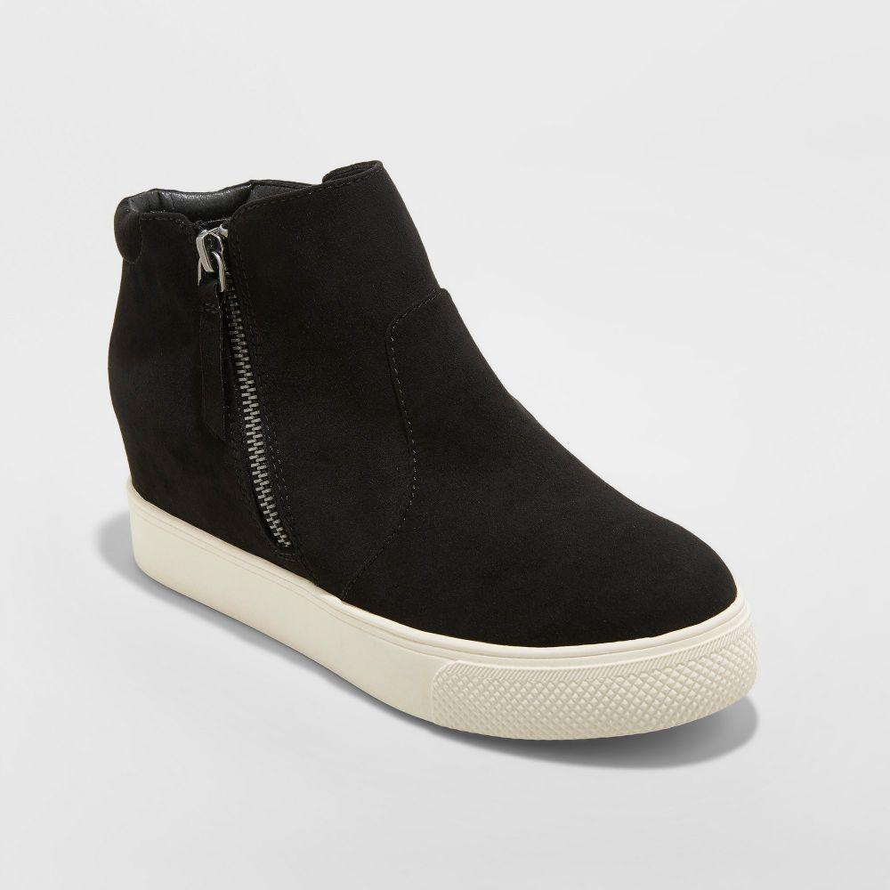 ユニバーサルスレッド Universal Thread レディース スニーカー ウェッジソール シューズ・靴【Cindy Wedge Sneakers -】Black