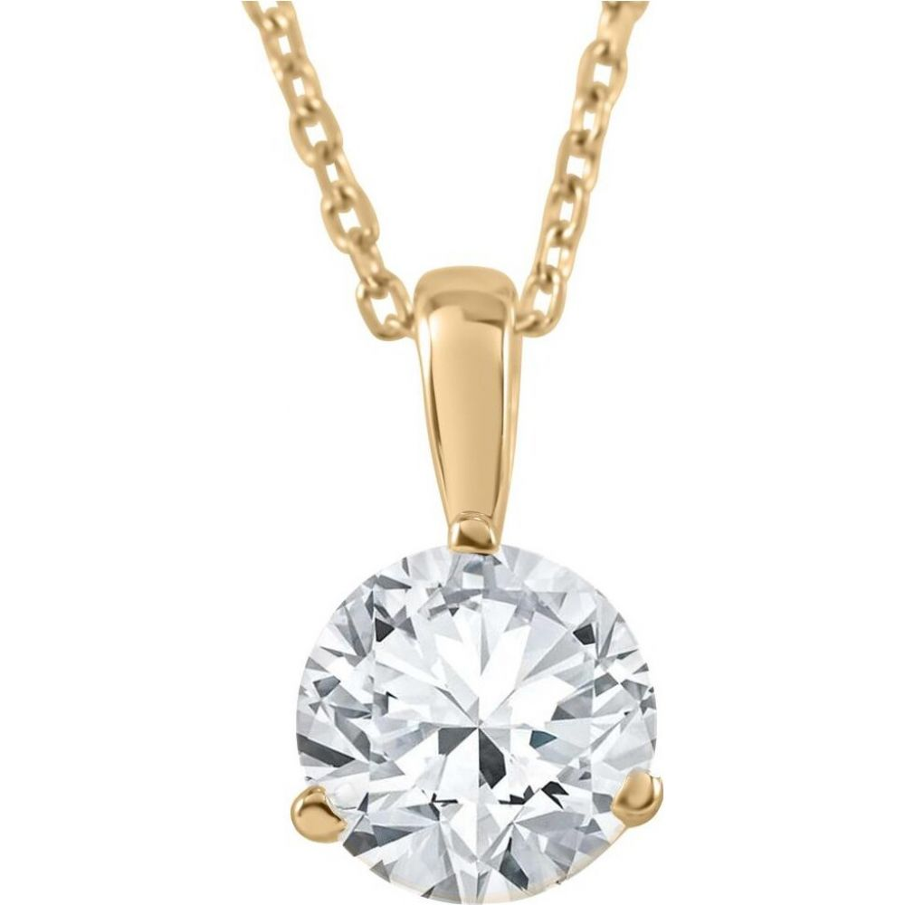 ポンペイ Pompeii3 レディース ネックレス ジュエリー・アクセサリー【1/3 ct Solitaire Lab Created Diamond Pendant available in 14K and Platinum】14k yellow gold