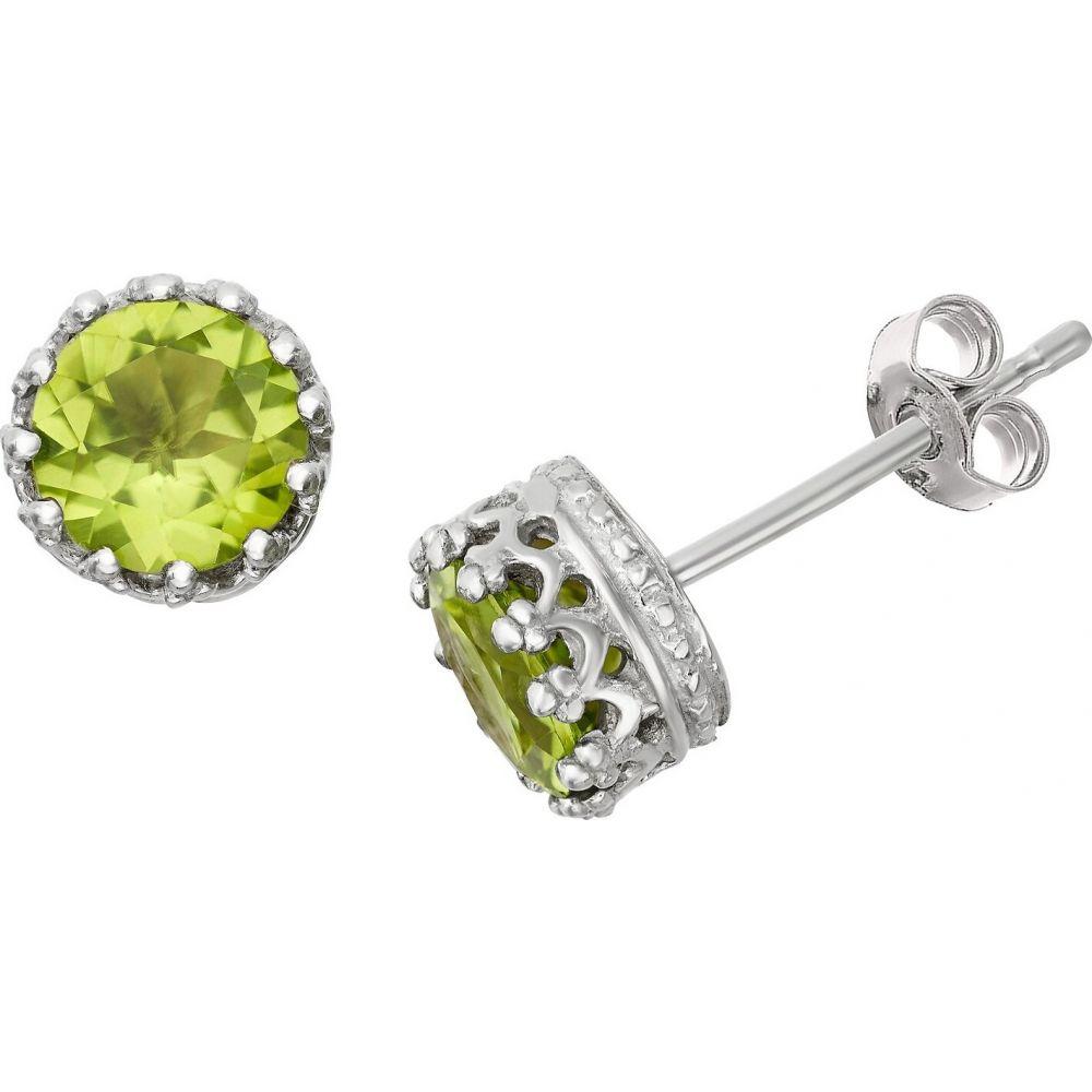 ティアラ Tiara レディース イヤリング・ピアス ジュエリー・アクセサリー【6mm Round-cut Peridot Crown Earrings in Sterling Silver】