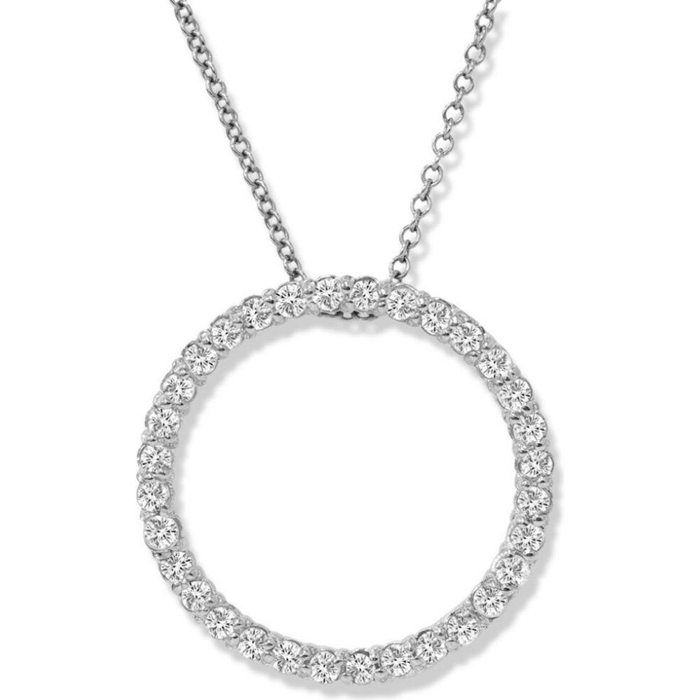 ポンペイ Pompeii3 レディース ネックレス ジュエリー・アクセサリー【14K White Gold 1/2ct Circle Of Life Diamond Pendant Necklace】