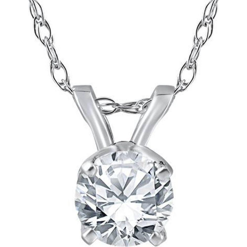 ポンペイ Pompeii3 レディース ネックレス ジュエリー・アクセサリー【1/3ct Solitaire Diamond Pendant 14 Karat White Gold】