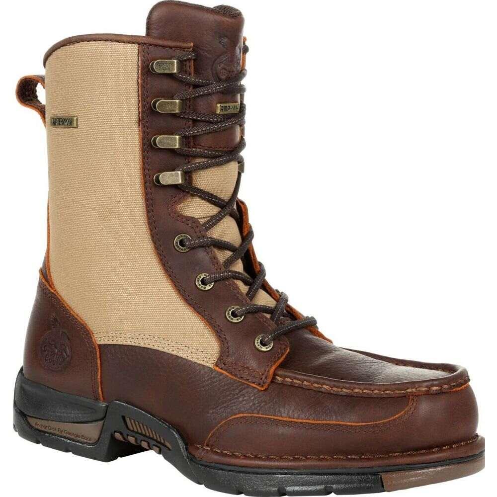 ジョージアブーツ 豪華な メンズ シューズ 靴 ブーツ brown 受賞店 サイズ交換無料 Athens Side-Zip Upland Georgia Waterproof Boot