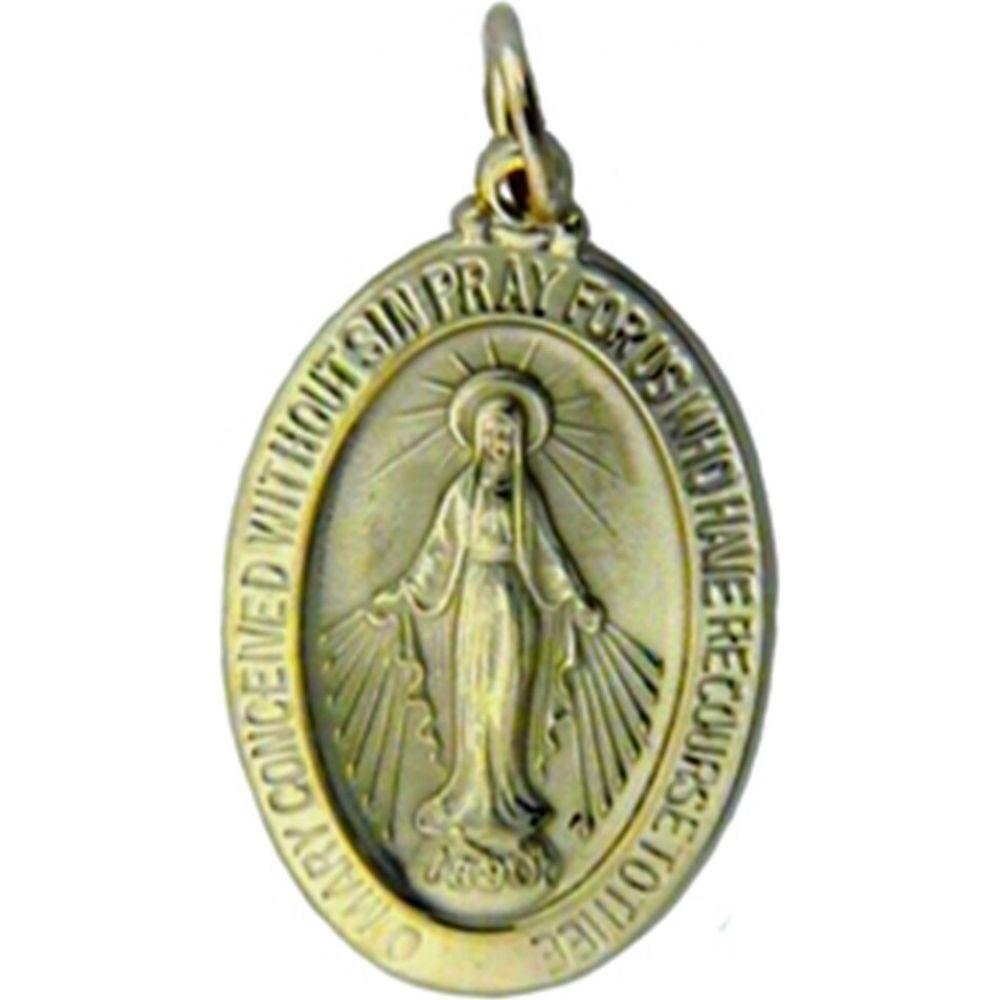 ポンペイ Pompeii3 レディース ジュエリー・アクセサリー 【Yellow Gold 14K Miraculous Mary Religious Pendant】