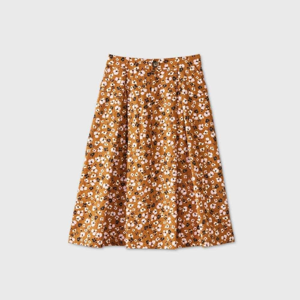 フー ワット ウェアー Who What Wear レディース ひざ丈スカート スカート【Birdcage A-Line Midi Skirt -】Brown