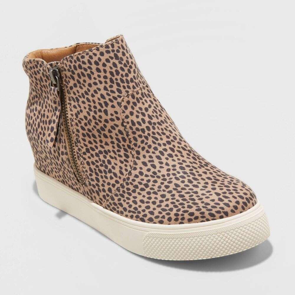 ユニバーサルスレッド Universal Thread レディース スニーカー ウェッジソール シューズ・靴【Cindy Wedge Sneakers -】Brown