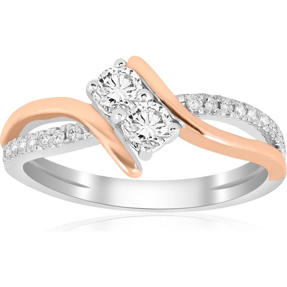 ホットセール ポンペイ 2 White Pompeii3 レディース 指輪・リング Rose ジュエリー・アクセサリー【5/8CT Forever Us 2 Stone Diamond Ring 14K White & Rose Gold】, 最上町:6d397366 --- inglin-transporte.ch