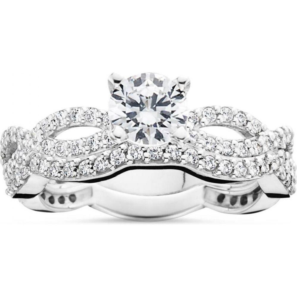 【国内即発送】 ポンペイ White Pompeii3 Carat レディース ポンペイ 指輪・リング ジュエリー・アクセサリー【1 Carat Diamond Engagement Infinity Ring Set 10K White Gold】, 甲佐町:f19be3be --- inglin-transporte.ch