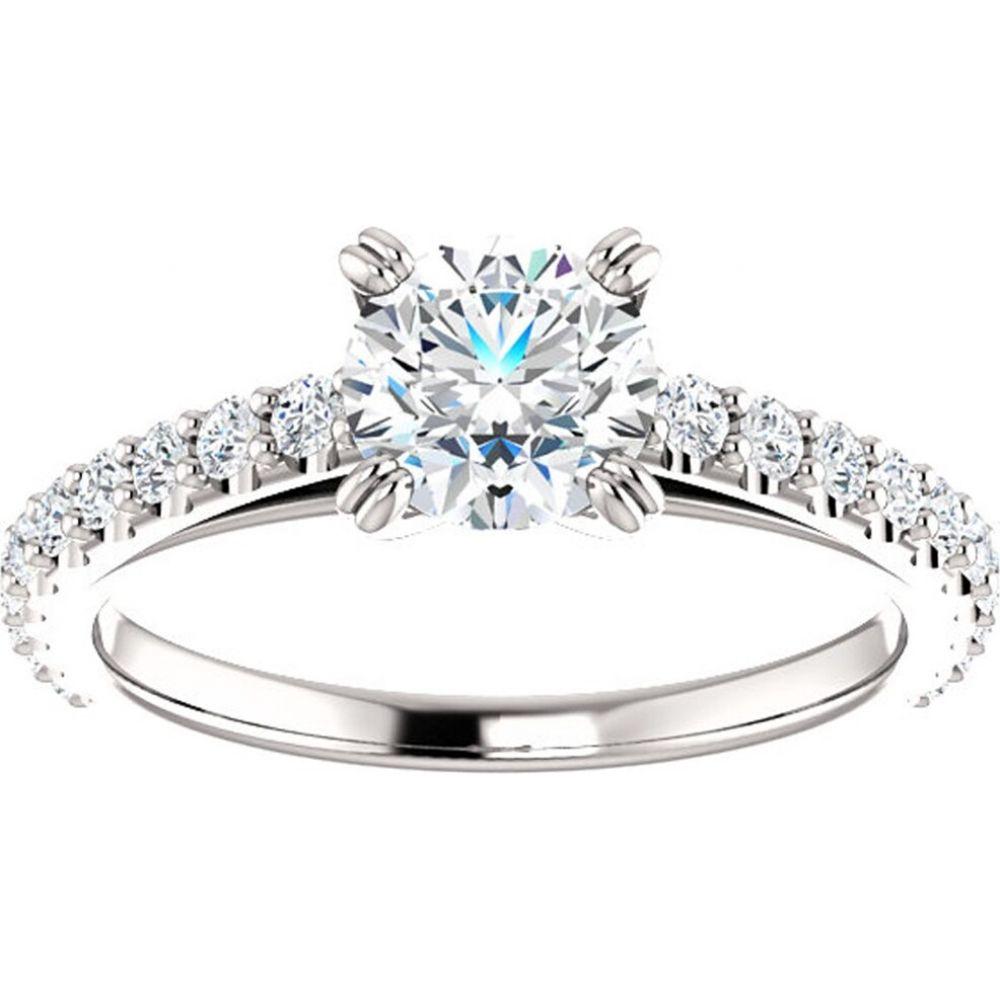 ポンペイ レディース ジュエリー アクセサリー 指輪 リング サイズ交換無料 限定価格セール Pompeii3 1 Ct Created 豪華な 14k Diamond Engagement Gold White Ring SI2-I1 Lab H-I