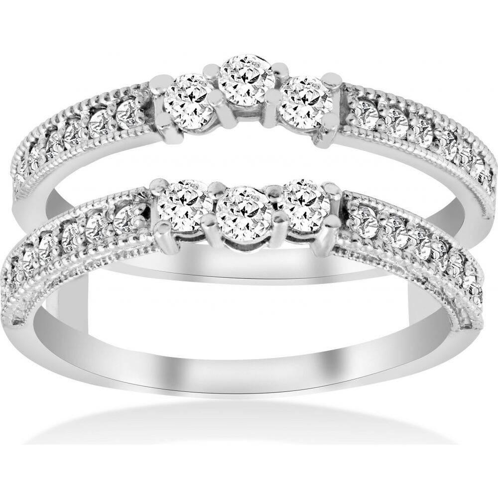 驚きの価格 ポンペイ Pompeii3 レディース 指輪・リング 結婚指輪 ジュエリー Carat・アクセサリー【1 Wedding 指輪・リング/2 Carat 14k White Gold Round Diamond Wedding Band Enhancer Guard Ring】, Swing Kids:428841e6 --- inglin-transporte.ch