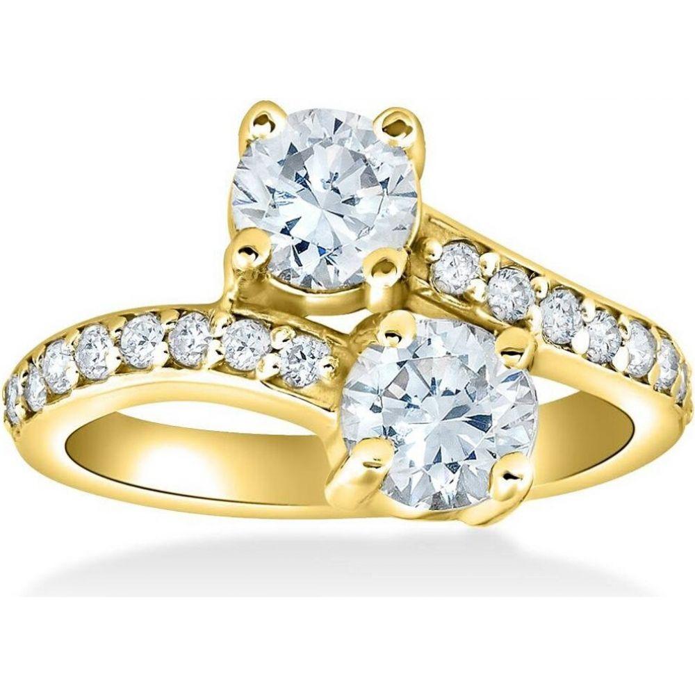 ショッピング ポンペイ レディース 卸直営 ジュエリー アクセサリー 指輪 リング サイズ交換無料 Pompeii3 1 2 14k cttw Diamond Yellow Forever Us 2-Stone Gold Engagement Ring