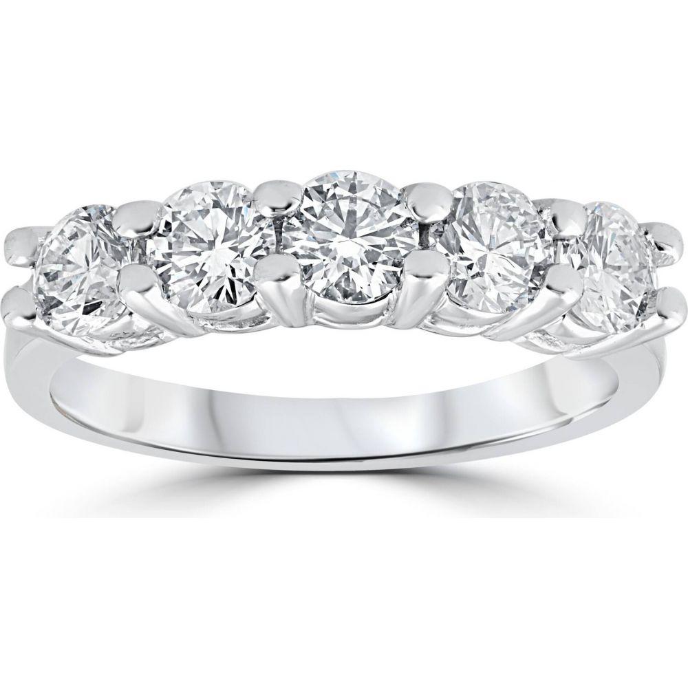 ポンペイ レディース 最新号掲載アイテム ジュエリー アクセサリー 指輪 リング サイズ交換無料 Pompeii3 1ct Five Diamond White Stone Wedding 14k 低廉 Ring Gold