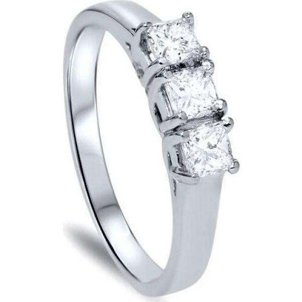 Gold】 指輪・リング Ring ジュエリー・アクセサリー【5/8ct Stone White Diamond ポンペイ Three Pompeii3 レディース 14K