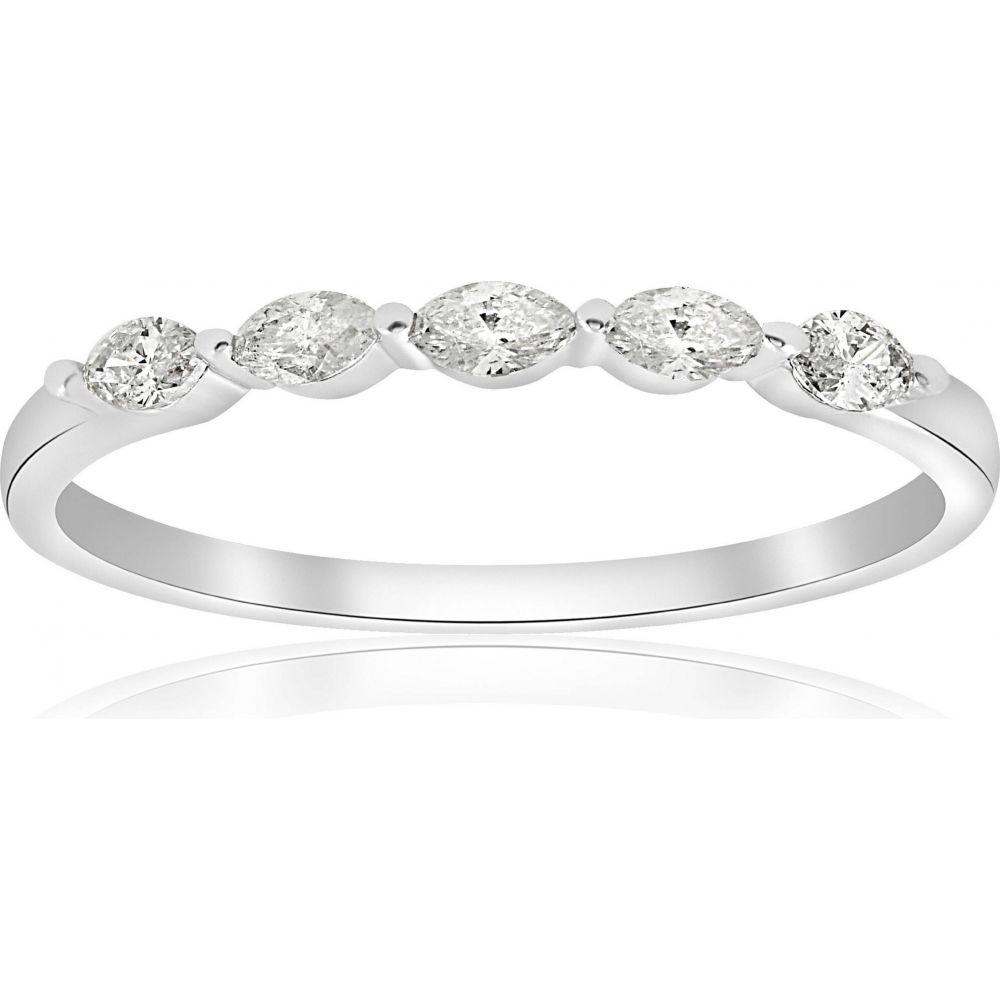 ポンペイ レディース ジュエリー アクセサリー 指輪 リング サイズ交換無料 Pompeii3 1 2ct Gold Stone Marquise いよいよ人気ブランド Ring Diamond 14K Five White Wedding 当店一番人気