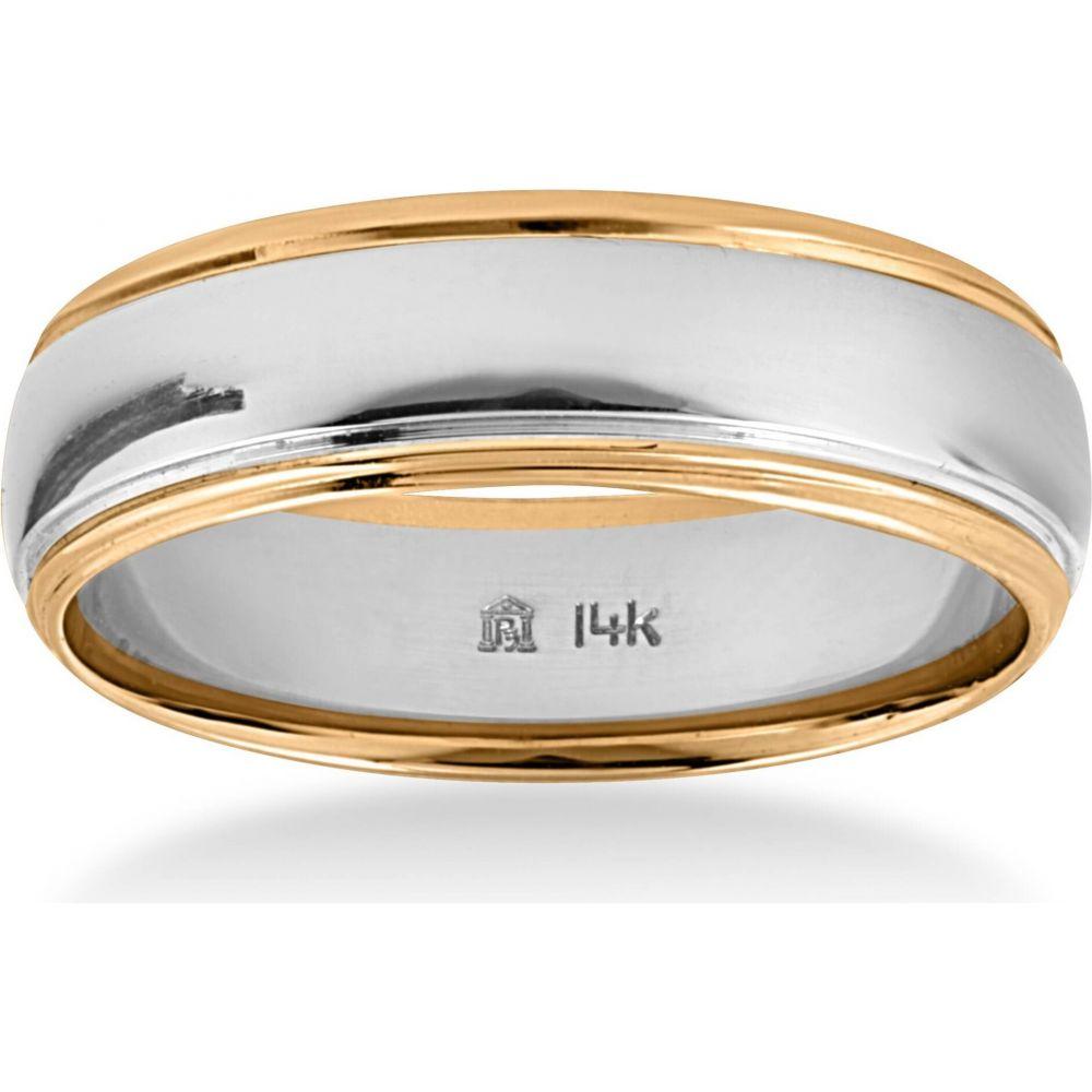 【オープニング大セール】 ポンペイ Pompeii3 レディース 指輪・リング 結婚指輪 ジュエリー・アクセサリー【14k Gold Two Tone 6mm Plain Comfort Wedding Band】, habitchildrenハビットチルドレン f757f6a1