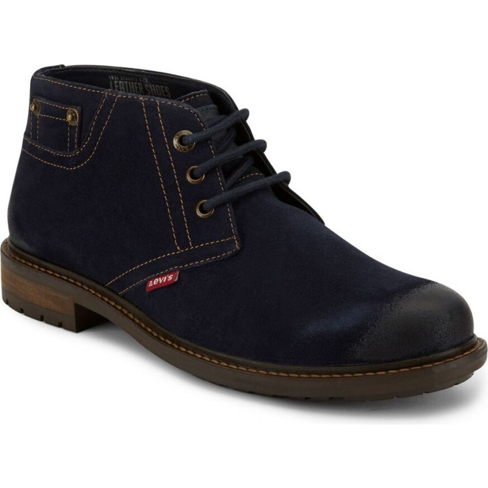 リーバイス メンズ シューズ・靴 ブーツ navy 【サイズ交換無料】 リーバイス Levi's メンズ ブーツ チャッカブーツ シューズ・靴【Cambridge Suede Leather Casual Chukka Boot】navy
