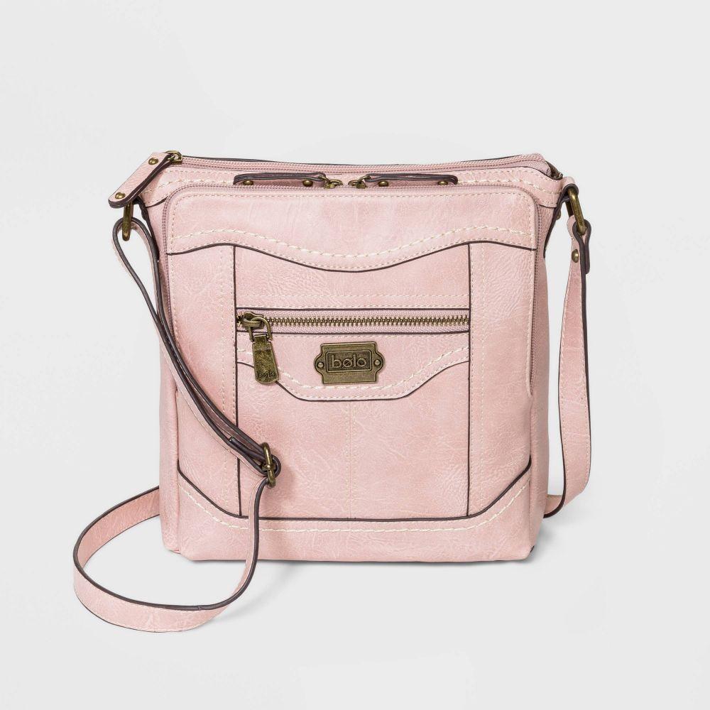 ボーロ Bolo レディース ショルダーバッグ バッグ【Zip Closure Crossbody Bag - Blush Pink】