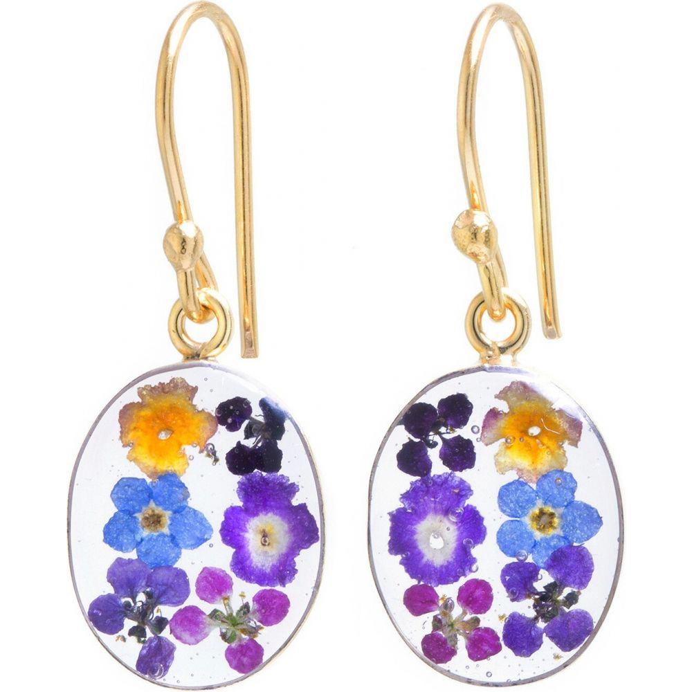 ターゲット target レディース イヤリング・ピアス ドロップピアス ジュエリー・アクセサリー【Gold over Sterling Silver Pressed Flowers Small Oval Drop Earrings】